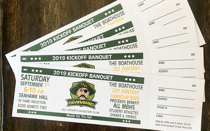 Banquet Tickets